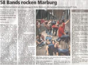 Oberhessische Presse, 14.03.2012 (Autor: Uwe Badouin)