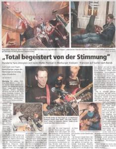 Oberhessische Presse, 19.03.2012 (Autor: Jan Bosch)