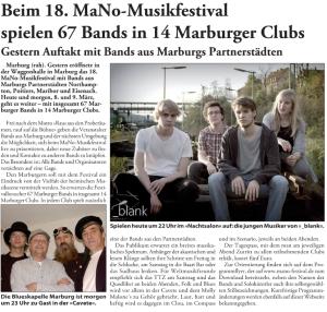 Marburger Freitagszeitung, 08.03.2013 (Autorin: Alexandra Hess)