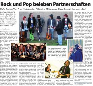 Oberhessische Presse, 01.03.2013 (Autor: Uwe Badouin)