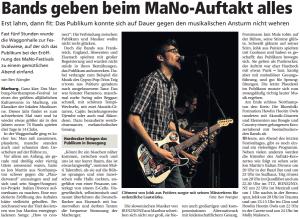 Oberhessische Presse, 09.03.2013 (Autor: Ben Wangler)