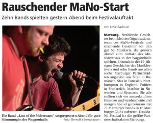 Oberhessische Presse, 14.03.2014 (Autor: Uwe Badouin)