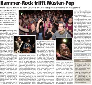 Oberhessische Presse, 15.03.2014 (Autor: Uwe Badouin)
