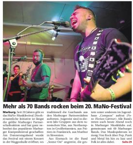 Oberhessische Presse, 14.03.2015 (Autor: Uwe Badouin)