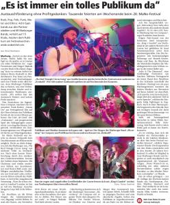 Oberhessische Presse, 14.03.2015 (Autor: Arnd Hartmann)